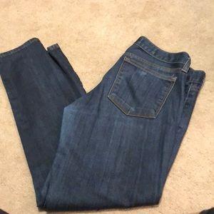 J Crew Toothpick Dark Wash Jeans